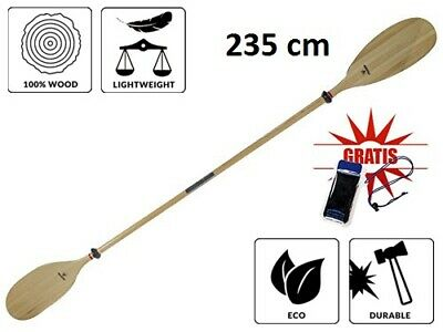 Traditional Wooden Pine Folding Kayak Paddle 235 cm Kayaking Canoe Two-piece