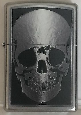 Zippo Windproof Skull X-Ray Lighter, Finish Is Satin Chrome, 051149, New In Box
