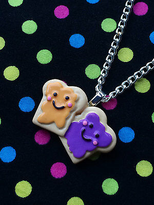 Peanut Butter and Jelly Necklace...Kawaii / Cute / Kitsch