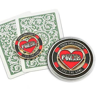 Love The Game Brass Card Guard Protector Poker Accessory Gambling Casino New