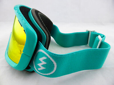 Electric EGB2 Snow Goggles The Real Teal - Bronze/Red Chrome + Yellow Lens