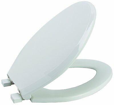 Premier Faucet 283032 Slow-Close, Elongated Plastic Toilet Seat, White