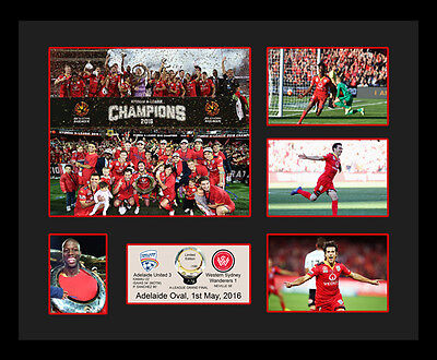 New Adelaide United 2016 Champions Limited Edition Memorabilia Framed