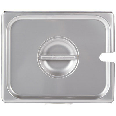1/2 Size Slotted Stainless Steel Steam Table / Hotel Pan Lid Cover 4070220