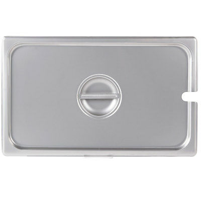 Full Size Slotted Stainless Steel Silver Steam Table / Hotel Pan Lid Cover