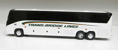 "Trans-Bridge Lines (PA) Bus on a Brand New Mold MCI ""J""  Plastic 11"" Bank Bus"