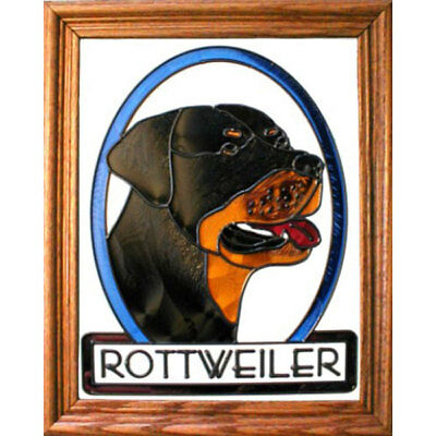 Rottweiler Stained Glass Wall Art