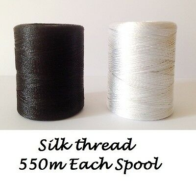 Black & White Embriodery Spools of Sewing/Machine silk art embroidery threads