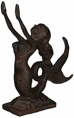 "Rustic Iron Mermaid Door Stop 9"" - Mermaid Decor - Nautical Decor - Beach Decor"
