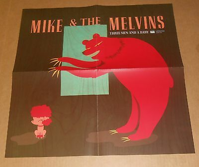 Mike & The Melvins Three Men and a Baby Poster Original Promo 21x21