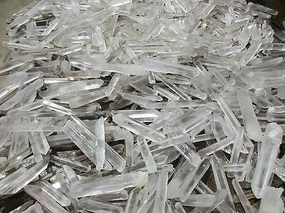 Aaa+++ Quartz Crystal 1/2 Lb Lots Natural Clear Points Fine 1.57''-2.36''