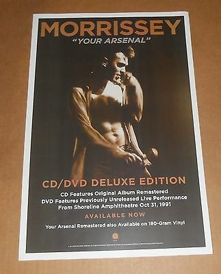 """Morrissey """"Your Arsenal"""" Poster Original 2014 Promo 11x17 The Smiths"""