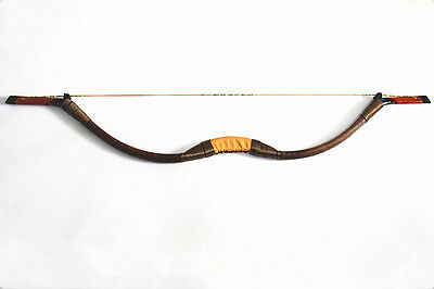 45LB Brown Handmade Traditional Recurve Bow For Archery Shooting Practice