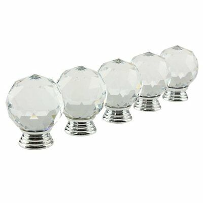 Vktech 40mm Crystal Cabinet Knobs and Pulls,5PCS, New, Free Shipping