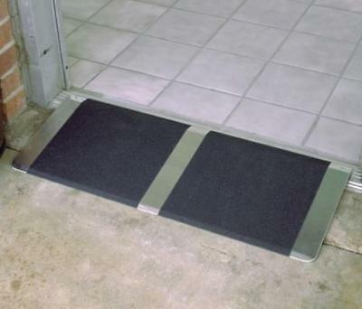 Threshold- Door Ramp 1'' Aluminium plate-anti slip-suit wheelchair-mobility s...