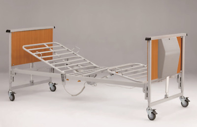 Electric Bed Hospital Style Home Care- Fully Adjustable-Optional Overbed Pole...