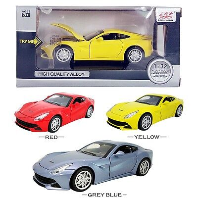 1PC 1:32 Ferrari F12 DieCast Model Car Kid Pull Back Friction Vehicle Toy LED