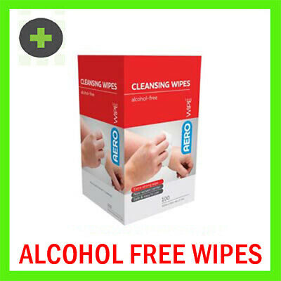 100 Alcohol Free Cleansing Wipes in Dispenser Box (prevention of infection)