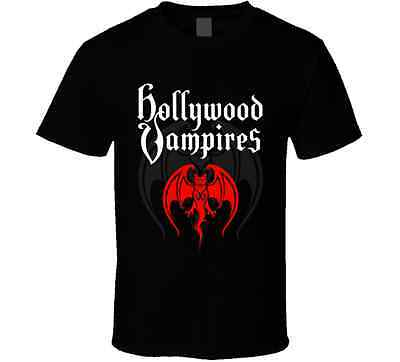 Hollywood Vampires Band Tour 2016 Adult Black Tee T-Shirt S-2XL
