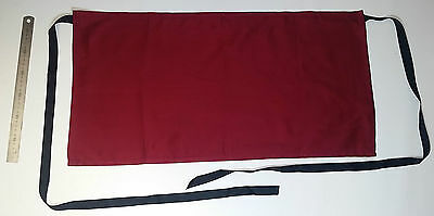 Waist Aprons 100% Cotton Burgundy Pack of 10