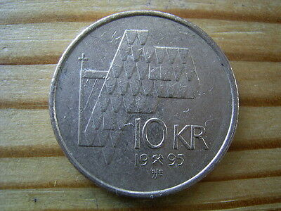 1995  Norway 10 krone   coin collectable