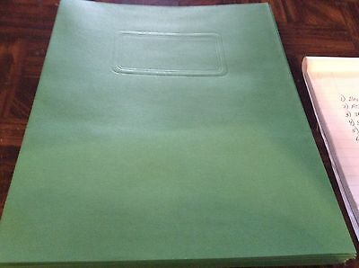 Green two pocket folders