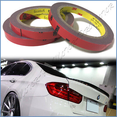 3 ROLL OF 3M Double Side Adhesive Tape For Car Bumper Trunk Roof Spoiler  Lip DIY
