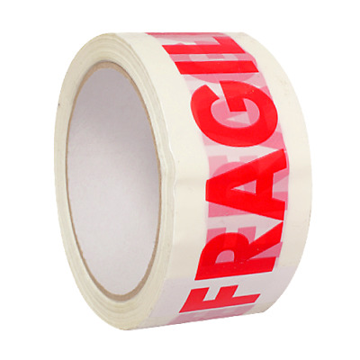 12 Fragile Printed Tape Parcel Packing Packaging48mm x 66m Box Sealing Big Rolls