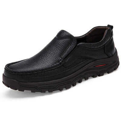 [NEW] US Size 6.5-11 New Men Casual Breathable Leather Soft Comfortable Business