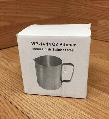 Winco WP-14 14 OZ Pitcher Mirror Finish Stainless Steel **NEW/OTHER - IN BOX**
