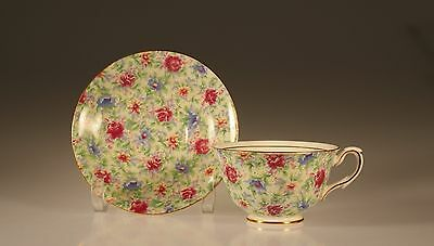 Taylor and Kent Rose Chintz Cup and Saucer, England