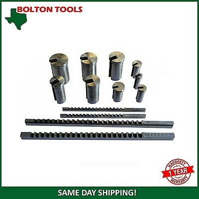 12-264-S03 Hss. Inch Size Keyway Broache Set No.10A