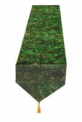 Green & Gold Table, 1.6 Meter Table runner By Temptations of Stoke on Trent