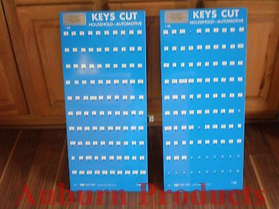 Key Blank Display / Metal Esp Two Displays / Holds 100 Items Per Display