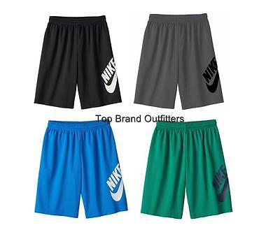 Boys Nike SB Dri-Fit Sunday Mesh Shorts Skateboarding Black Blue Gray Green 8/20