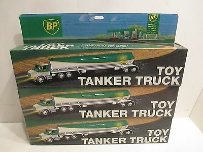First Issue Bp Tanker Truck With Sound And Lights 1991 New In Box Set Of 3 Truck