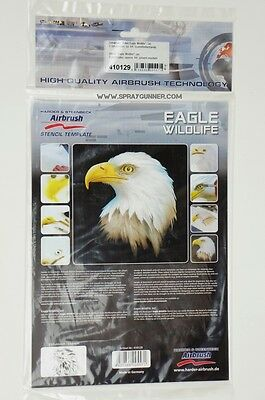 "Airbrushing stencil set ""Eagle Wildlife"" 3 pieces A4  (11.5*8 inch) template"