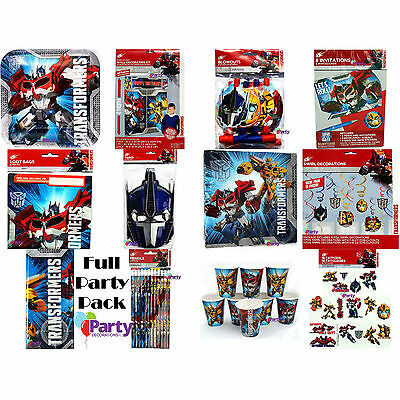 Bulk Birthday Party Pack Transformers Decorations Supplies Favours Kit New