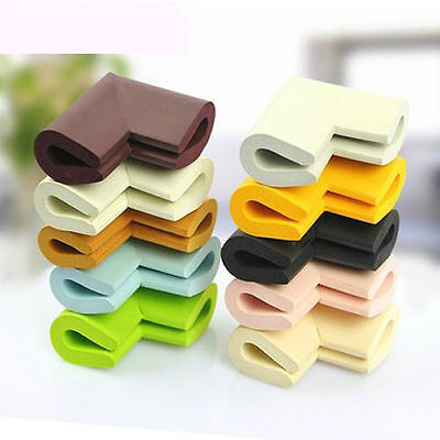 4Pcs Baby Proofing Safety Table Edge Corner Cushion Protector Foam Guard Bumper