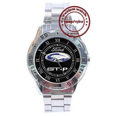 NEW Ford FPV GT-P CUSTOM CHROME MEN WRIST WATCH WATCHES