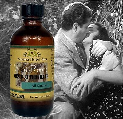 """MEN'S AFTERSHAVE """"Wild Roots"""" 100% Natural ULTRA Calm and Soothing 120 ml Bottle"""