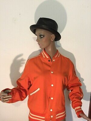 Vintage US college jkt med-large,reversible original early 1950s rayon gab