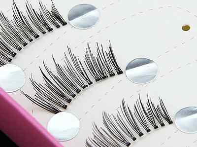 10 pairs Black Natural Half Mini Corner Winged False eyelashes Cute eye lashes