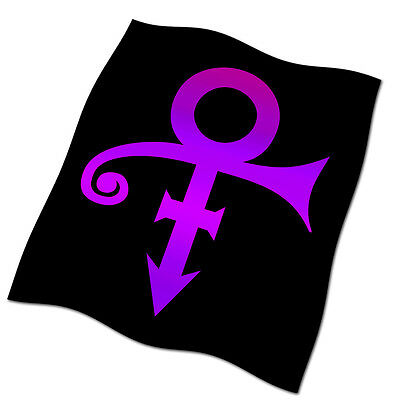 "Prince Symbol Flag Banner 26"" NEW Kiss When Doves Cry Purple Rain"