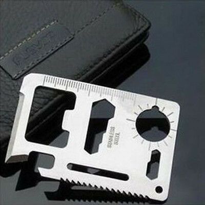 Survival Tools 11 in 1 Multi Pocket Hunting Camping Military Credit Card Knife