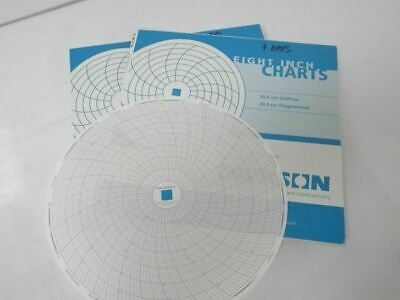 """DICKSON C479 temperature charts 8"""" 7 days 5 to 40 celsius 120 charts *NEW*"""