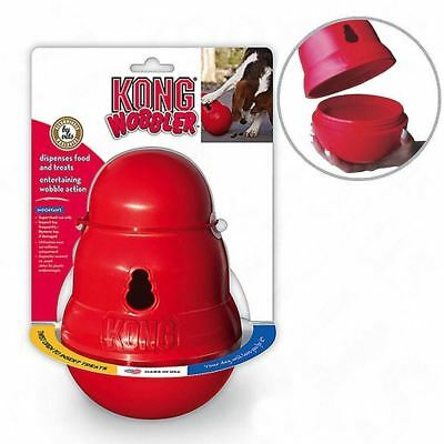 Kong Wobbler Dog Treat Dispenser Chew Toy SMALL - Anti Gulp Slow Feed Bowl