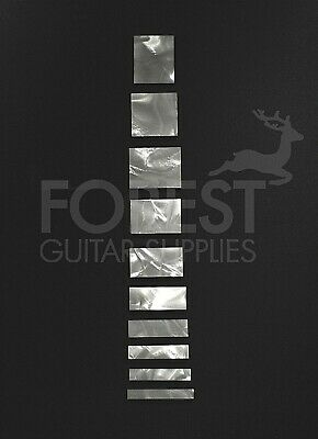 Gibson® LP custom style acrilic celluloid inlay square set (10)