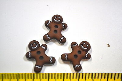 BUTTONS CHRISTMAS GINGERBREAD ADVENT WINTER Sewing Haberdashery