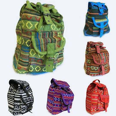 5f15cd5b1d Small Nepali Backpack - Ethnic Hippy Fabric Rucksack Shoulder Bag Cotton  Bags